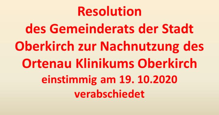 Resolution Nachnutzung Krankenhaus Oberkirch