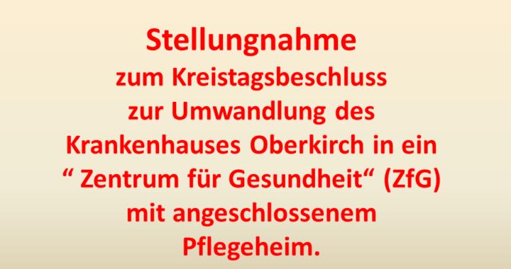 Stellungnahme ZfG Oberkirch