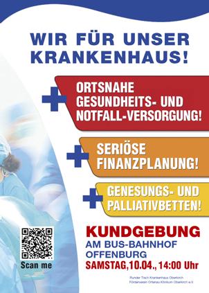 Demonstration 10. April in Offenburg