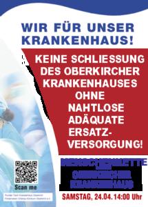 Menschenkette Schließung Krankenhaus Oberkirch