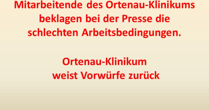 Mitarbeitende des Ortenau-Klikums beklagen Arbeitsbedingungen