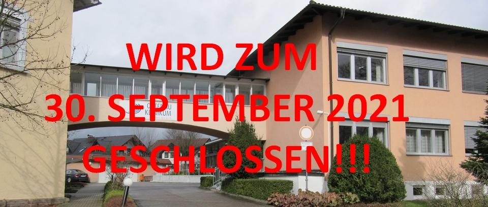 Krankenhaus Oberkirch zum 30. September 2021 geschlossen