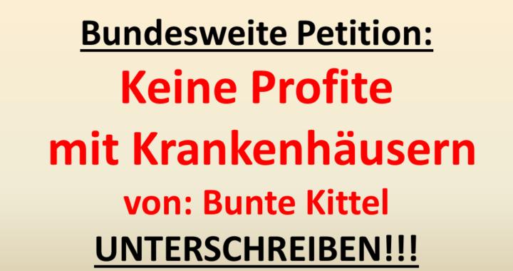 Petition Gegen Fallpauschalen